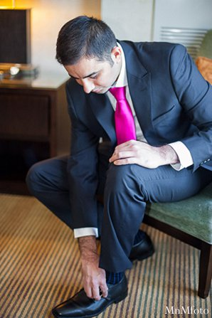 indian wedding groom getting ready tuxedo