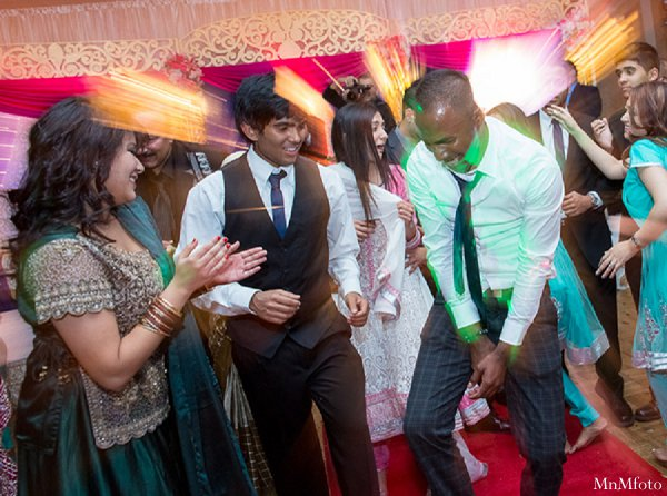 Indian wedding guests reception dancing in Alexandria, VA Indian Wedding by MnMfoto