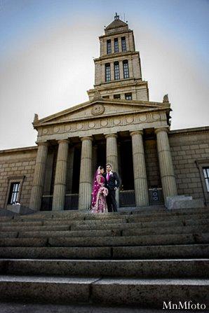 Indian wedding photography portraits groom bride in Alexandria, VA Indian Wedding by MnMfoto
