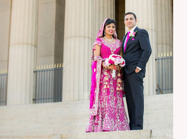 Indian wedding portraits bride groom in Alexandria, VA Indian Wedding by MnMfoto