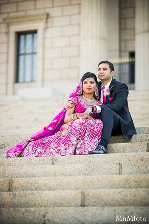 Indian wedding portraits groom bride lengha in Alexandria, VA Indian Wedding by MnMfoto