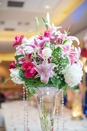 Indian wedding reception floral decor in Alexandria, VA Indian Wedding by MnMfoto