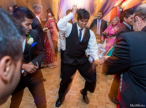 Indian wedding reception guests dancing dj in Alexandria, VA Indian Wedding by MnMfoto
