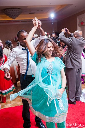 Indian wedding recpetion dj dancing in Alexandria, VA Indian Wedding by MnMfoto