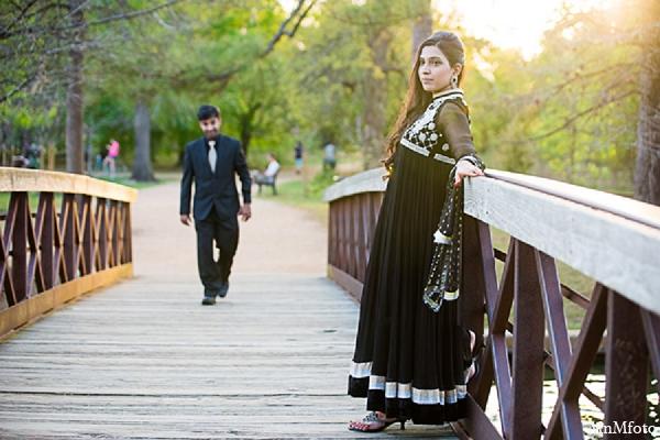 Bride groom engagement photos bridge outdoors in Sunday Sweeheart Winners ~ Jafar & Ummama by MnMfoto