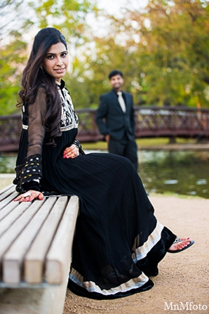 Indian wedding bride bench water engagement shoot in Sunday Sweeheart Winners ~ Jafar & Ummama by MnMfoto