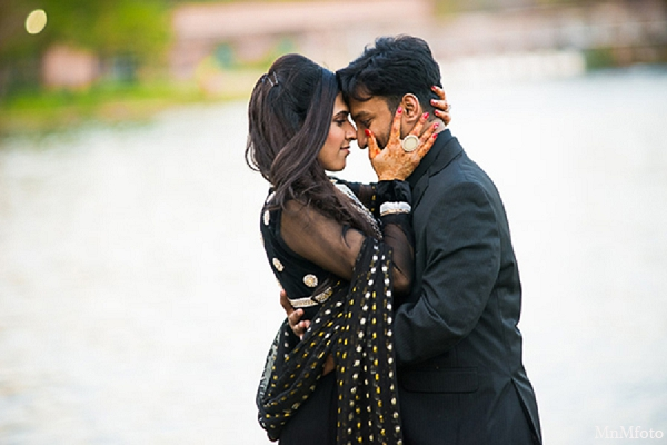 Indian wedding engagement photos bride groom hugging water in Sunday Sweeheart Winners ~ Jafar & Ummama by MnMfoto