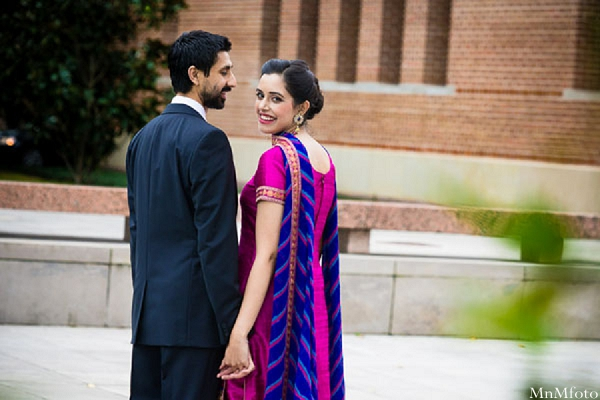Indianwedding bride and groom bride pink lenga in Sweethearts Sunday Winnner ~ Navneet & Koijan by MnMfoto