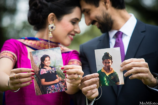 Indian wedding closeup bride and groom baby pictures in Sweethearts Sunday Winnner ~ Navneet & Koijan by MnMfoto
