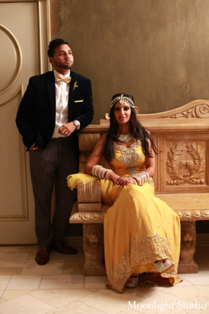 Indian-wedding-bride-groom-couple-reception