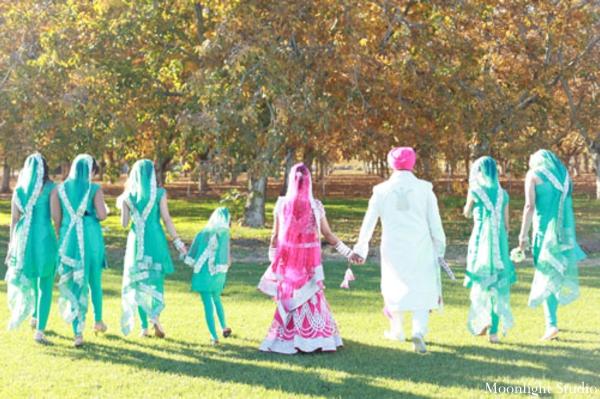 Indian-wedding-bride-groom-portrait-bridal-party