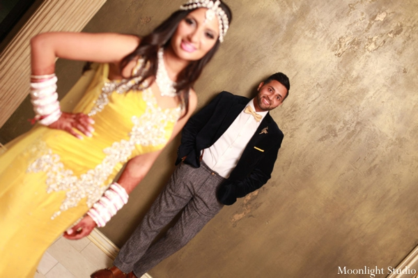 Indian-wedding-bride-groom-portrait-reception
