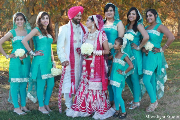 Indian-wedding-ceremony-portrait-groom-bride-party