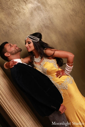 Indian-wedding-couple-at-reception-portrait