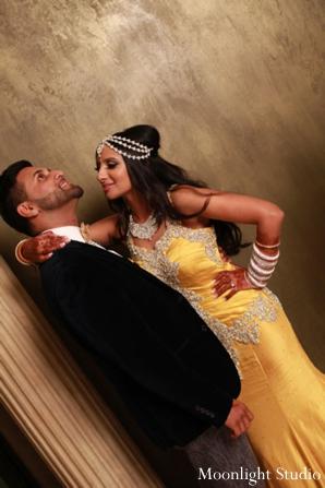 Indian-wedding-couple-at-reception-portrait