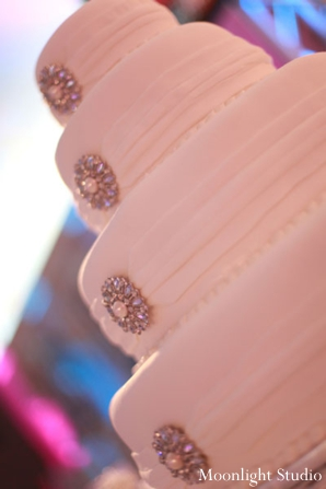 Indian-wedding-reception-cake-white-jewels