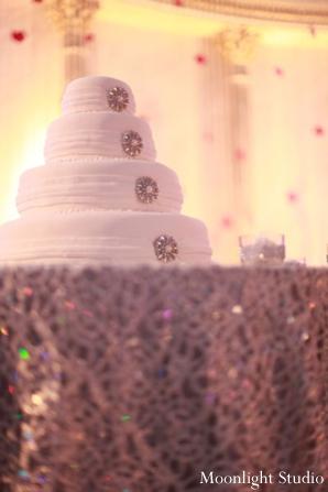 Indian-wedding-white-cake-reception