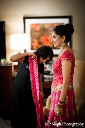 Indian-wedding-bridal-lengha-getting-ready