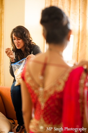 Indian-wedding-bride-getting-ready-red