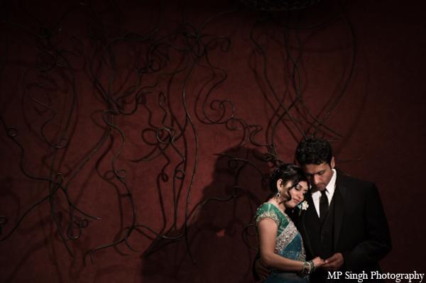 Indian-wedding-bride-groom-reception-portrait