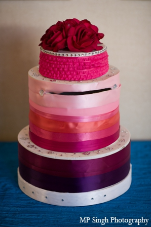 Indian-wedding-cake-ribbons-ideas-inspiration
