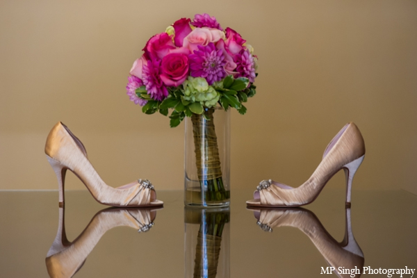Indian-wedding-shoes-bridal-champagne-boquet