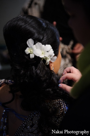 Indian bridal hair in Itasca, Illinois Indian Wedding by Nakai Photography