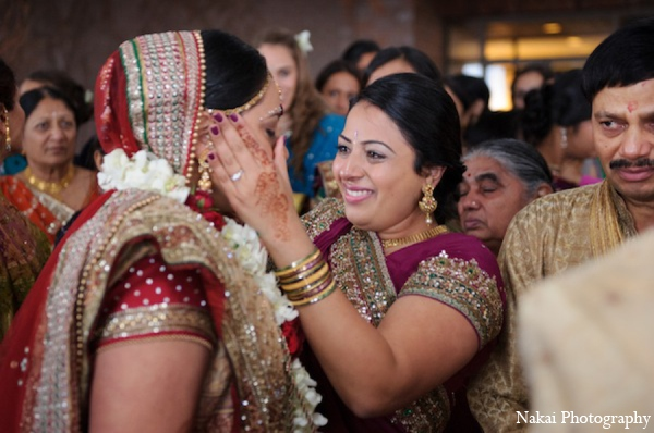 Indian wedding bridal in Itasca, Illinois Indian Wedding by Nakai Photography