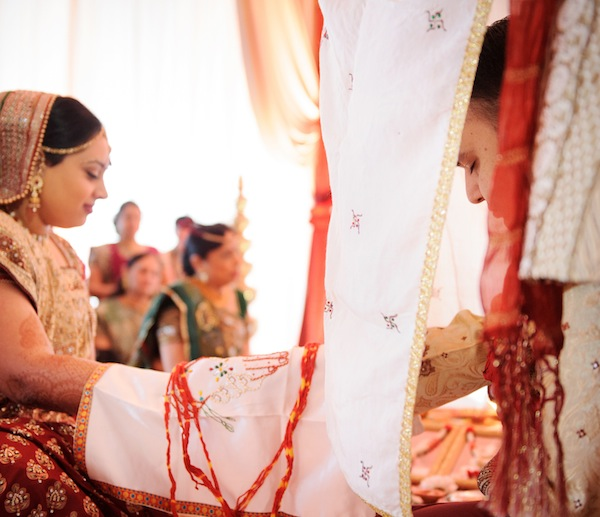 Indian wedding bride groom ceremony in Itasca, Illinois Indian Wedding by Nakai Photography