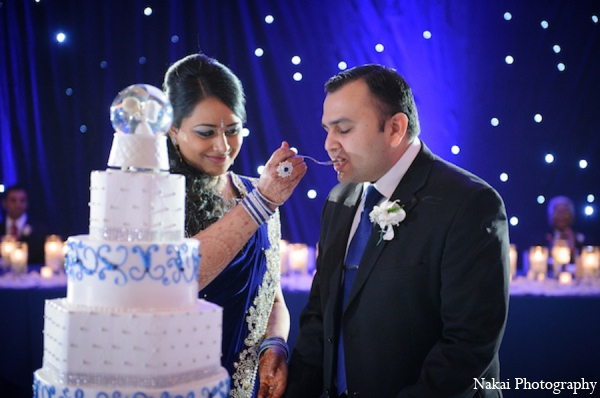 Indian wedding cake in Itasca, Illinois Indian Wedding by Nakai Photography