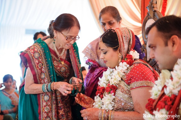 Indian wedding ceremony bride in Itasca, Illinois Indian Wedding by Nakai Photography