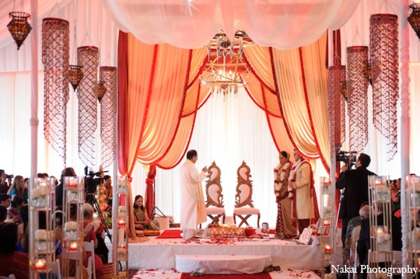 Indian wedding ceremony mandap in Itasca, Illinois Indian Wedding by Nakai Photography