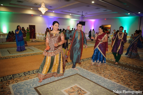 Indian wedding dancing in Itasca, Illinois Indian Wedding by Nakai Photography