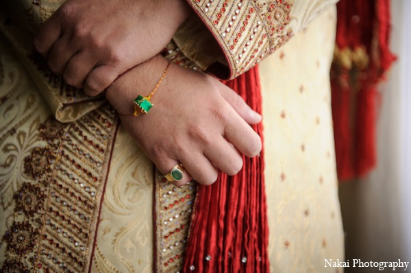 Indian wedding groom accessories in Itasca, Illinois Indian Wedding by Nakai Photography