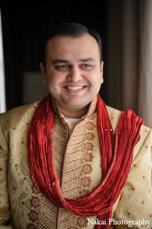 Indian wedding groom sherwani in Itasca, Illinois Indian Wedding by Nakai Photography