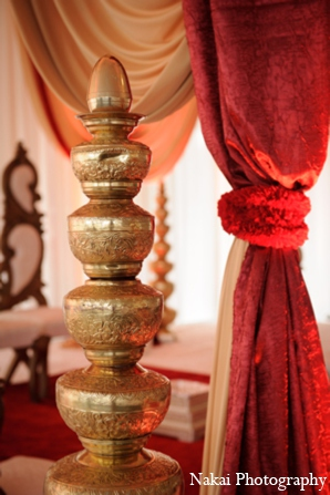 Indian wedding mandap decor in Itasca, Illinois Indian Wedding by Nakai Photography