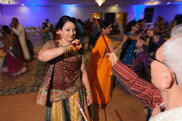 Indian wedding raas garba in Itasca, Illinois Indian Wedding by Nakai Photography