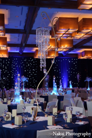 Indian wedding reception lighting in Itasca, Illinois Indian Wedding by Nakai Photography