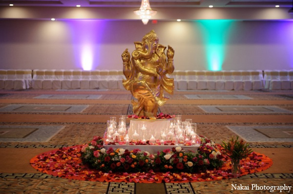 Indian wedding statue in Itasca, Illinois Indian Wedding by Nakai Photography