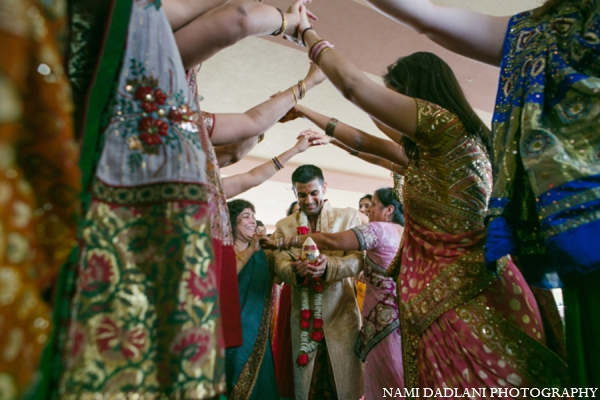 Indian wedding baraat groom in Coral Springs, Florida Indian Wedding by Nami Dadlani Photography