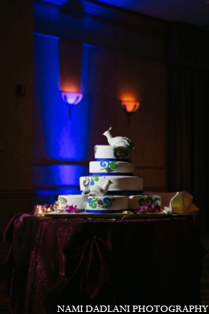 Indian wedding cake in Coral Springs, Florida Indian Wedding by Nami Dadlani Photography