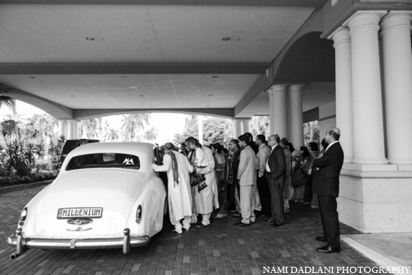 Indian wedding car in Coral Springs, Florida Indian Wedding by Nami Dadlani Photography