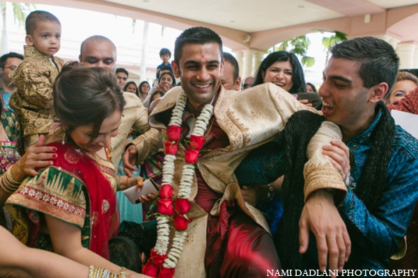 Indian wedding groom baraat in Coral Springs, Florida Indian Wedding by Nami Dadlani Photography