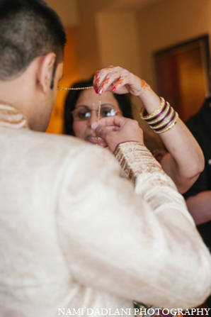Indian wedding groom jewelry in Coral Springs, Florida Indian Wedding by Nami Dadlani Photography