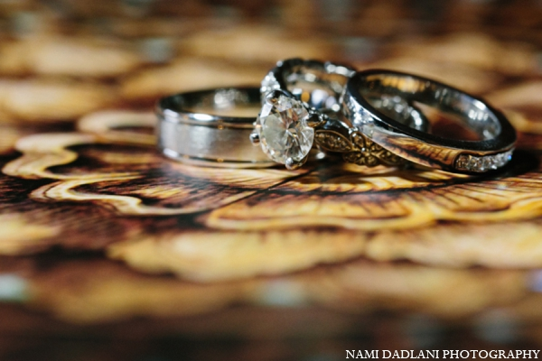 Indian wedding rings in Coral Springs, Florida Indian Wedding by Nami Dadlani Photography