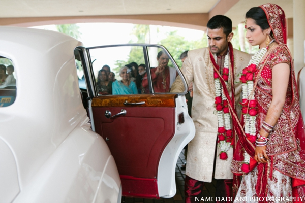 Indian wedding transportation in Coral Springs, Florida Indian Wedding by Nami Dadlani Photography