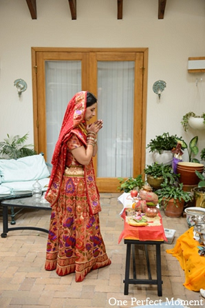 Indian bridal fashion hindu wedding in Wilmington, Delaware Indian Wedding by One Perfect Moment