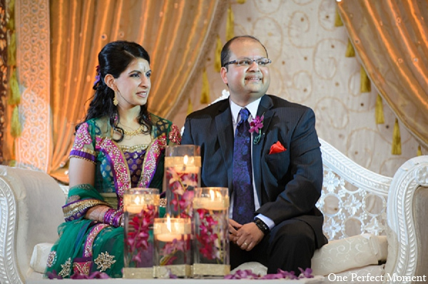 Indian reception groom bride wedding in Wilmington, Delaware Indian Wedding by One Perfect Moment