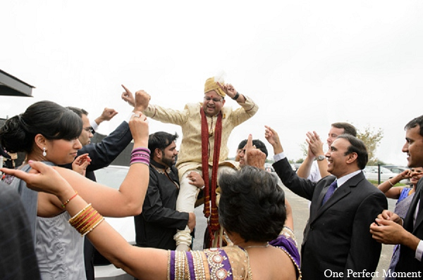 Indian wedding baraat ceremony groom in Wilmington, Delaware Indian Wedding by One Perfect Moment