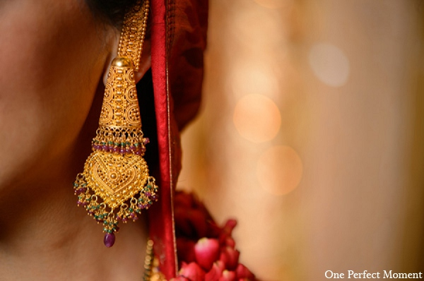 Indian wedding bride jewelry hindu in Wilmington, Delaware Indian Wedding by One Perfect Moment